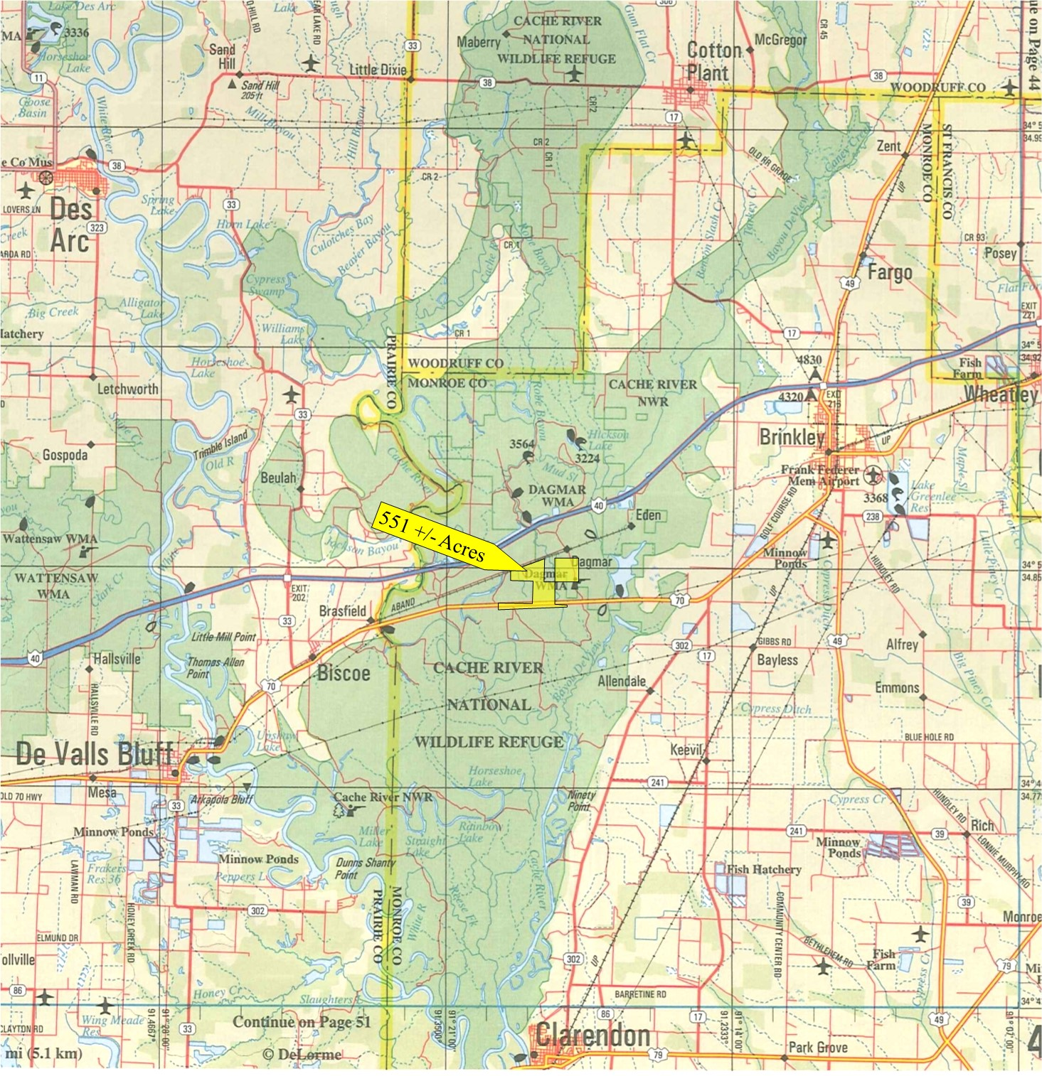 Acres Monroe County Arkansas Southern Land Company - Arkansas land ownership maps