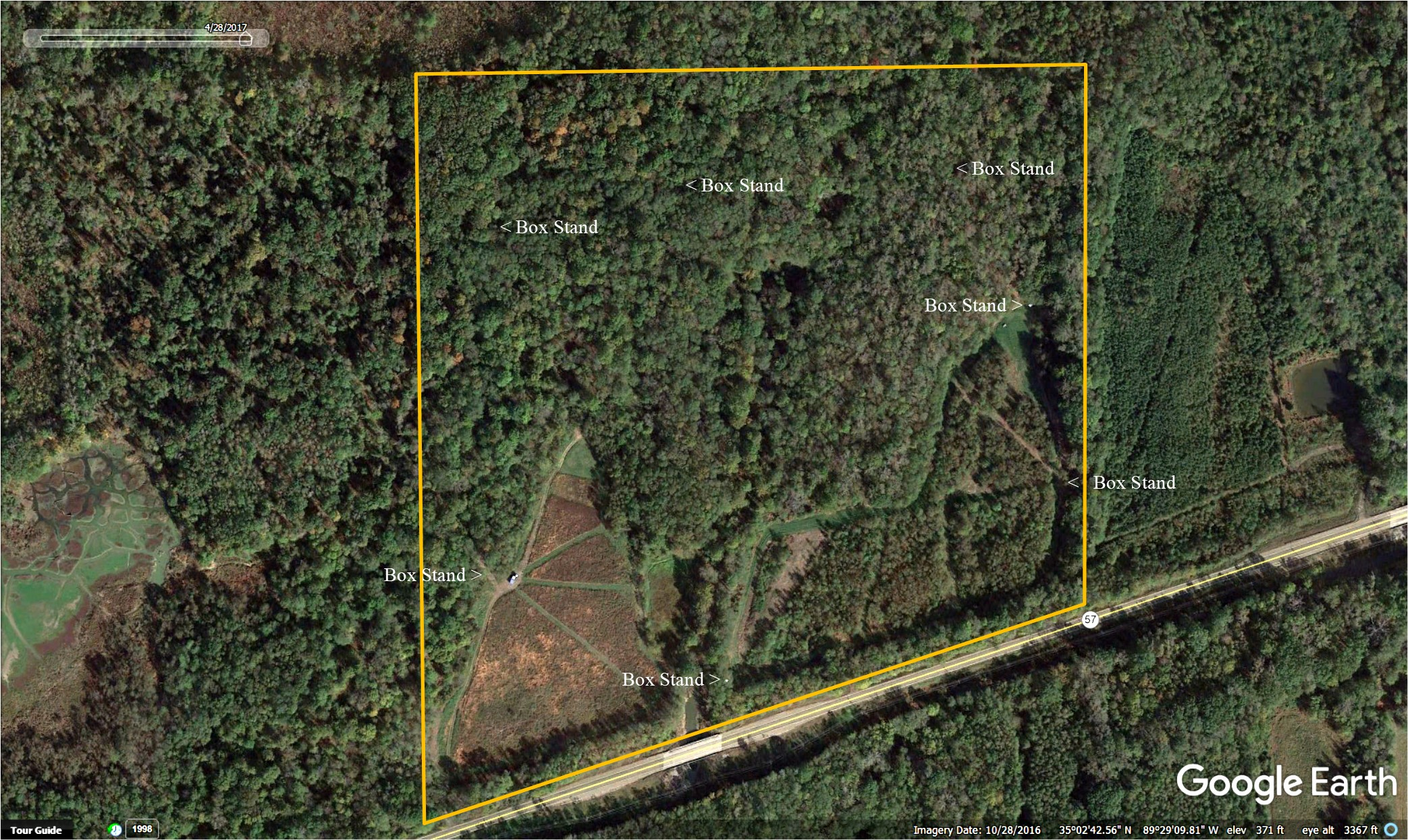 57 +/- Acres Deer & Turkey Hunting Land -Fayette County, Tennessee