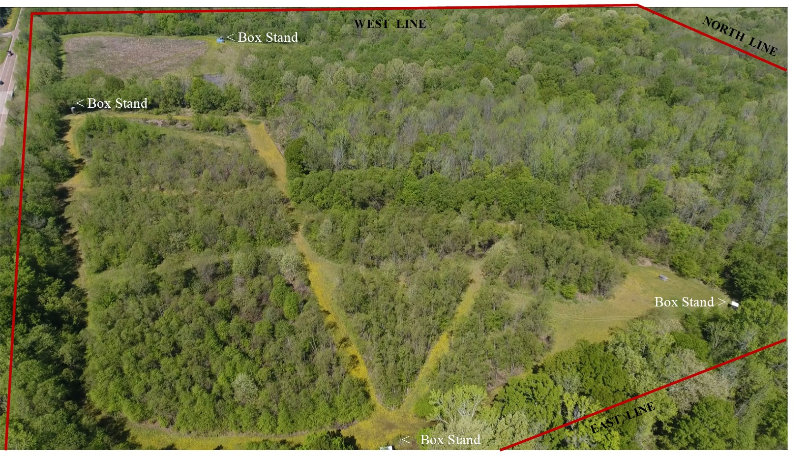 57 +/- Acres Deer & Turkey Hunting Land -Fayette County